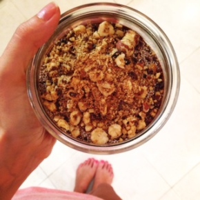 Salty Caramel Hazelnuts & Raw Cacao Mousse