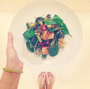 Oregano Baked Tofu & Broccoli withSeeds